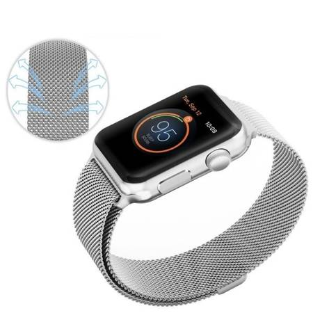 Bransoletka Tech-Protect MilaneseBand Silver Apple Watch 1/2/3 38MM srebrna
